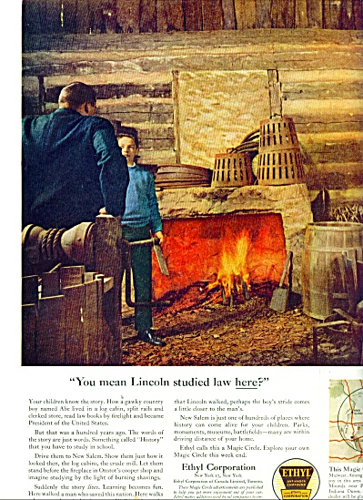1961ethyl Corp Ad Lincolm Studied Law Here
