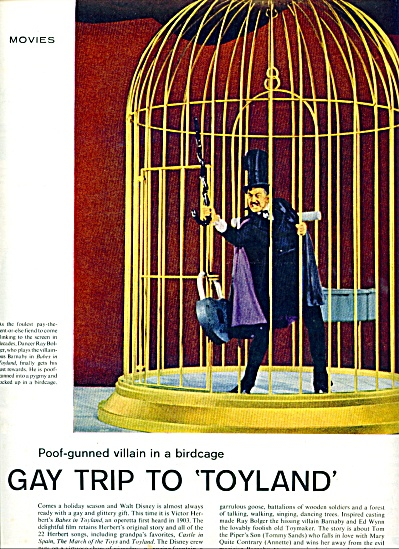 RAY BOLGER  - in Babes in Toyland ad 1961 (Image1)