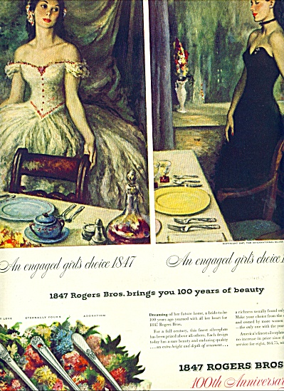 1847 Rogers Bros. 100th Anniversary Ad 1947