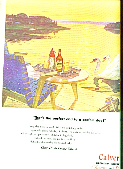 Calvert blended whiskies ad 1951 (Image1)