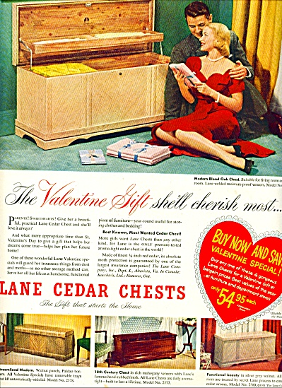Lane Cedar Chests Ad 1951