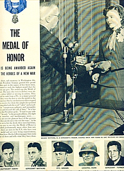 THE MEDAL OF HONOR - Harry Truman awards (Image1)