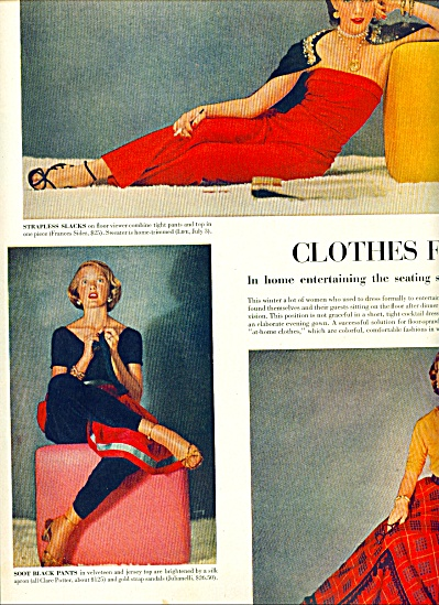 1951 FASHIONS Clothes for TV watching Story (Image1)