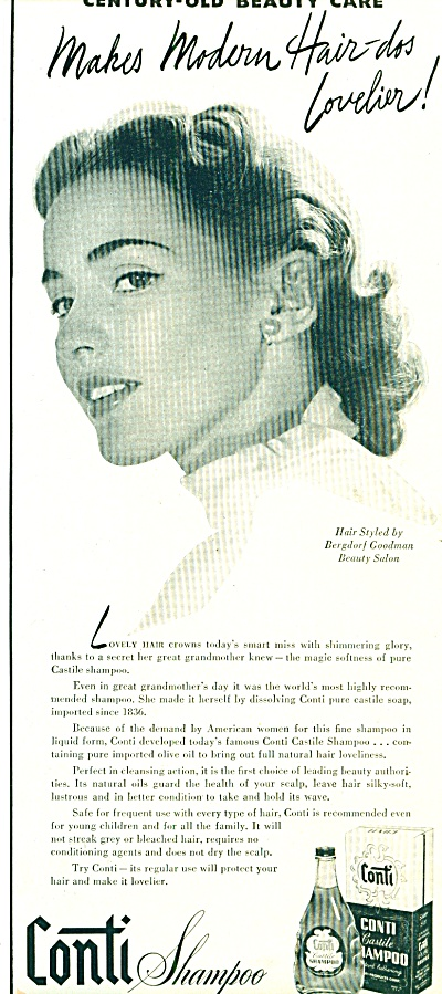 1951 Conti Shampoo castile AD Lovely Hair (Image1)