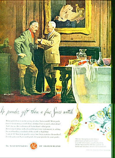 The Watchmakers of Switzerland ad 1951 (Image1)