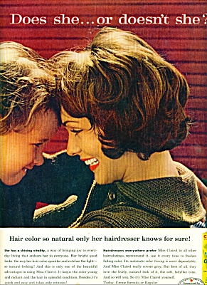 Miss Clairol creme hair  color bath ad 1960 (Image1)