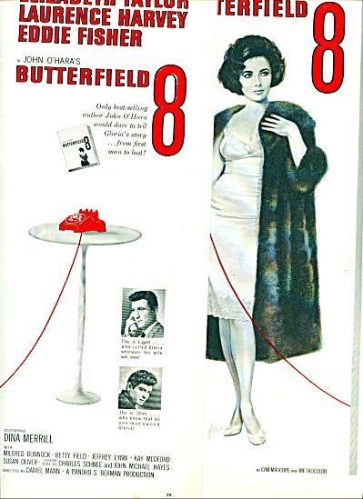 Movie:  BUTTERFIELD 8 ELIZABETH TAYLOR Promo AD 1960 (Image1)
