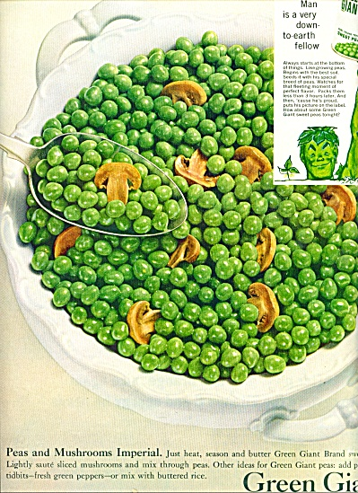 Green Giant sweet peas ad 1960 (Image1)