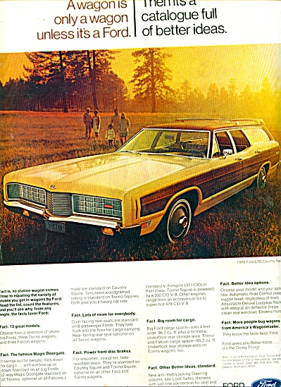 Ford Station Wagon Ad For 1970
