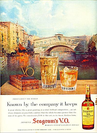 Seagram's V.O .  Whisky ad 1958 (Image1)