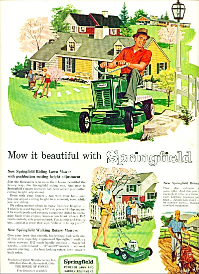 Springfield powered lawn equipment ad 1958 (Image1)