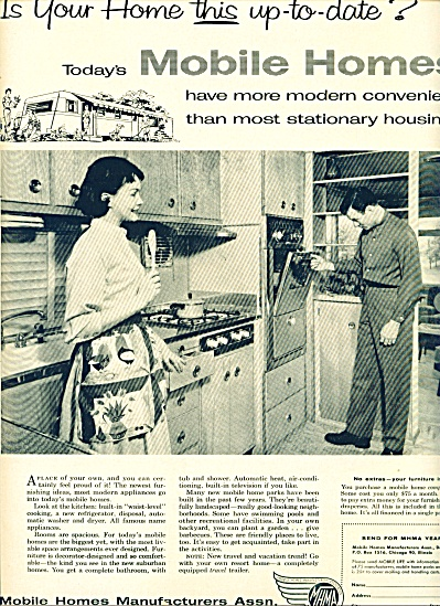 Mobile Homes Manufacturers Assn. ad 1958 (Image1)