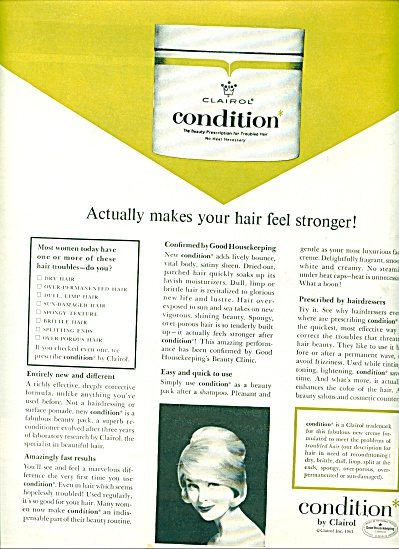 Condition by Clairol ad 1963 (Image1)