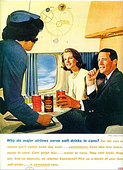 1963 Bethlehem Steel AD AIRLINES Soft DRINKS (Image1)