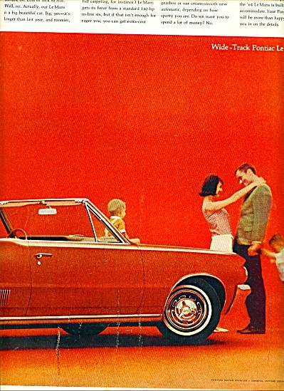 Pontiac LeMans wide track for 1964 ad (Image1)
