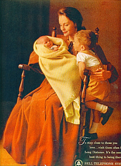 Bell Telephone system ad 1963 MOTHER AND KIDS (Image1)