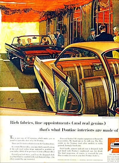1961 - Pontiac Bonneville sports coupe ad (Image1)