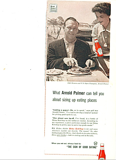 1961 -  Heinz Tomato Ketchup - ARNOLD PALMER (Image1)