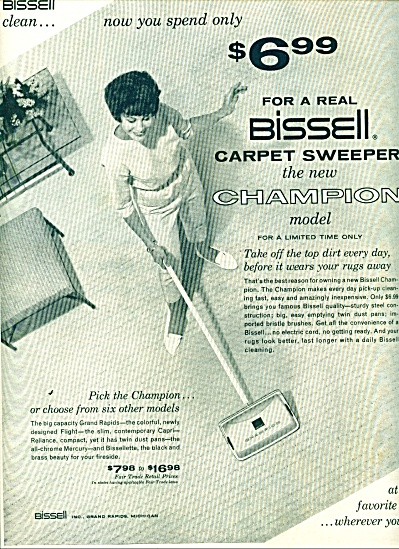 1961 - Bissell carpet sweeper ad (Image1)