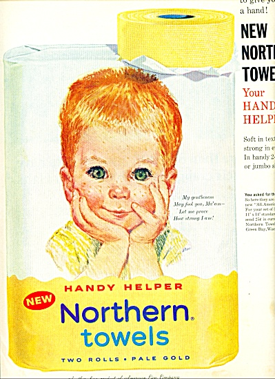 1961 - Northern towels baby ad (Image1)