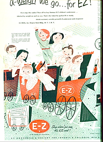 1953 - E-Z underwear & hosiery for infants (Image1)
