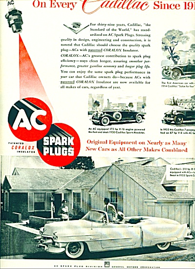 1953 - AC spark plugs on every Cadillac ad (Image1)