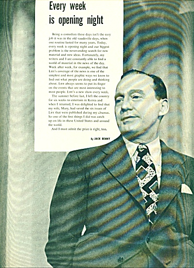 1953 - JACK BENNY picture and comments STORY (Image1)