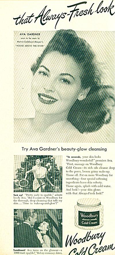 1948 - Woodbury Cold Cream - AVA GARDNER  ad (Image1)