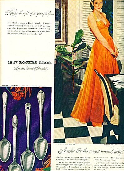 1948  1847 Rogers Bros SILVER AD Elegant LADY (Image1)