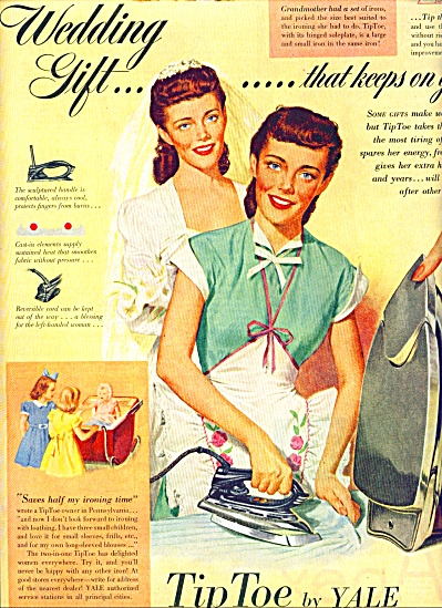 1948 - Tip Toe by Yale Irons ad Woman Artwork (Image1)