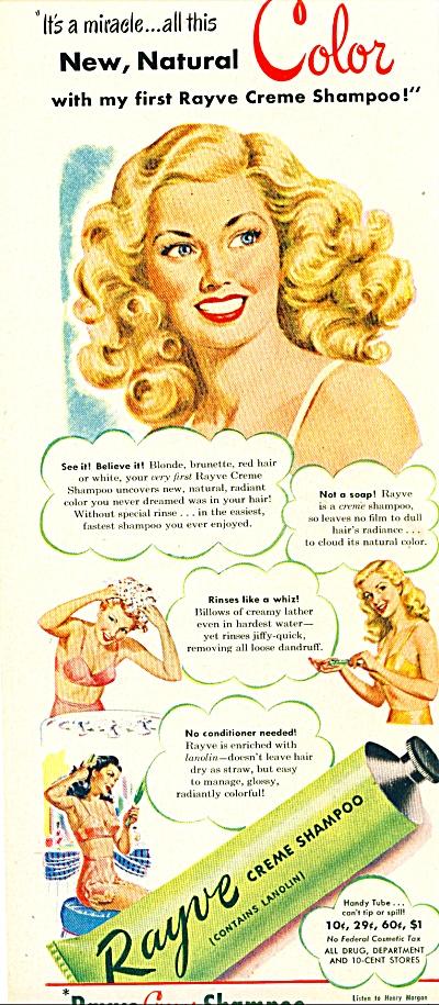 1948 - Rayve Creme shampoo ad (Image1)