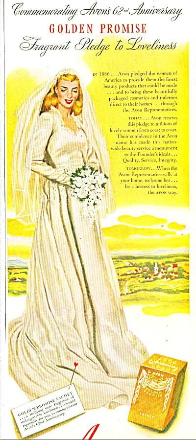 1948 - Avon Cosmetics -Golden Promise ad (Image1)