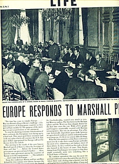 1947 - Europe responds to Marshall Plan story (Image1)