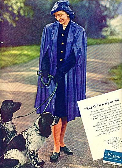 1945 Krene Plastics AD  Model in RAIN CAPE (Image1)