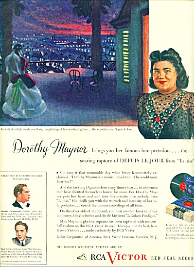 1945 - Rca Victor Records - Dorothy Maynor Ad