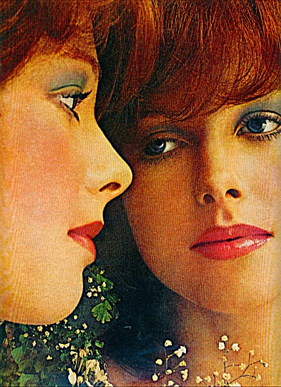 1971 Love's Cosmetics Reflections Ad Redhead