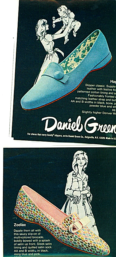 1971 - Daniel Green Slippers Ad