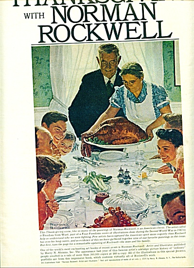 1971 -  Thanksgiving with NORMAN ROCKWELL (Image1)