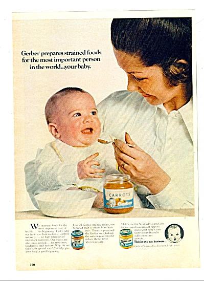 1971 - Gerbers baby food ad (Image1)