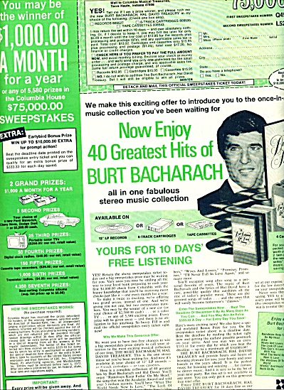1971  40 greatest hits of BURT BACHARACH AD (Image1)