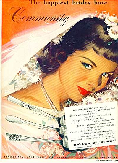 1948 - Community silverplate AD JON WHITCOMB (Image1)