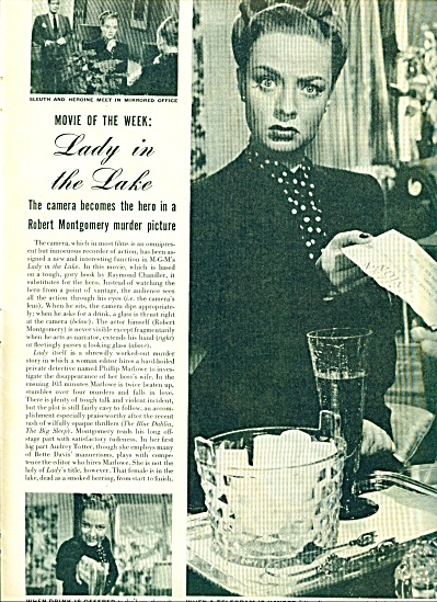 1947 - Movie Of The Week: Lady In The Lake