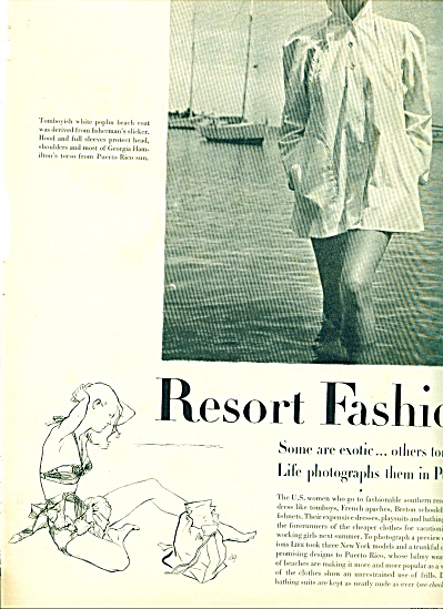 1947 - Resort fashions photos from Puerto Ric (Image1)