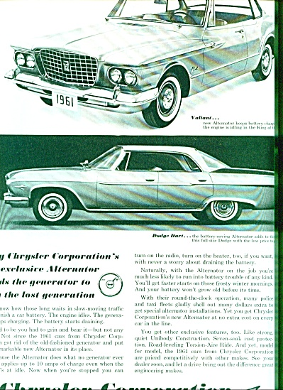1960 -Chrysler corporation autos for 1961 (Image1)