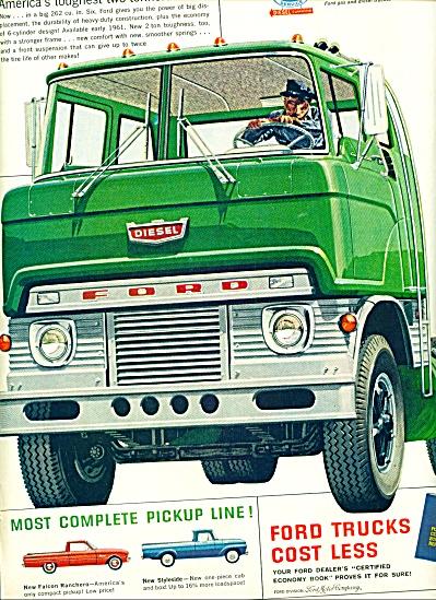 1960 -  Ford Trucks ad RANCHERO STYLESIDE PICK UPS (Image1)