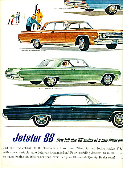 1960 -  Oldsmobile Jetstar I and 88 ad (Image1)