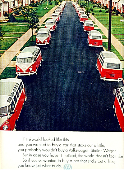 1960 - Volkswagen Vw Van Bus Ad Stick Out