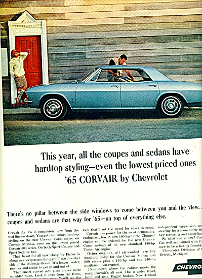 1965-  Chevrolet Corvair  automobile ad (Image1)