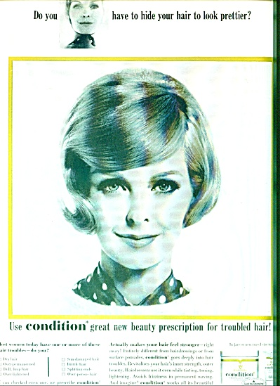 Clairol Condition 1964 SARA THOM Model AD (Image1)