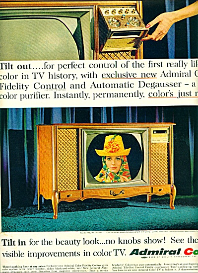 1964 - Admiral Color Television Ad